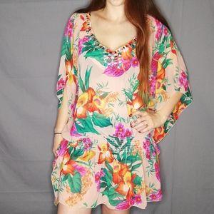 Victoria's Secret jeweled floral tunic dress